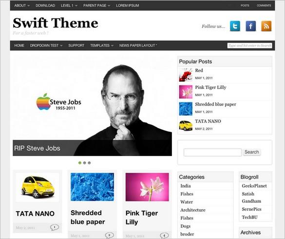 Swift Basic WordPress Theme (Free)