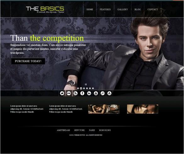 The Basics - A Portfolio WordPress Theme
