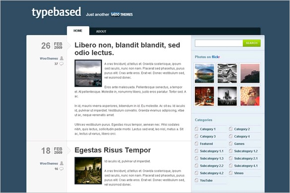 Typebased is a free WordPress Theme by Woo Themes