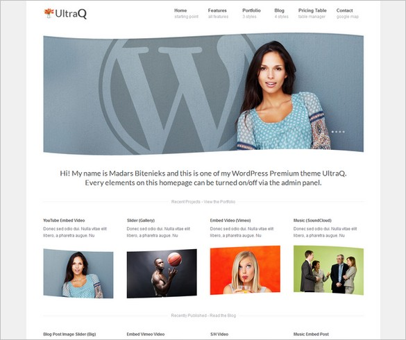 UltraQ is a beautiful Corporate WordPress Theme