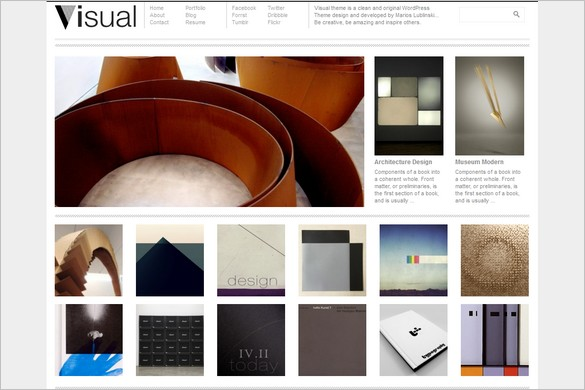 Visual is a free WordPress Theme by Dessign.net