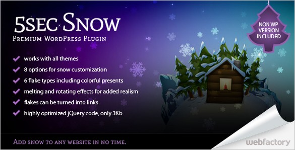 5sec Snow WP Plugin