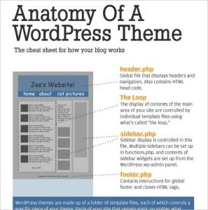 The Anatomy Of A WordPress Theme - Infographic