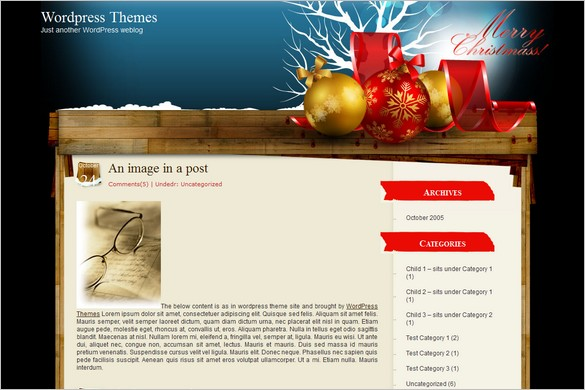 Baubles is a free WordPress Theme
