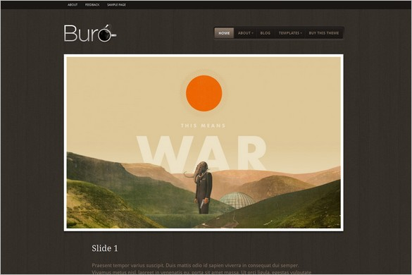 Buro is a WordPress Theme by WooThemes