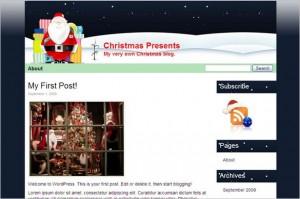 Christmas Presents is a free WordPress Theme