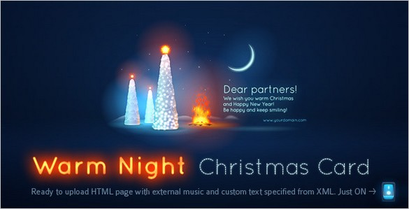 Warm Night Christmas Card (Free)