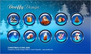 A set of free Christmas icons