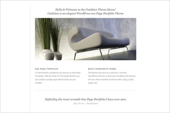 Coalition is a One Page WordPress Theme