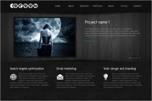 Cocoon is a one page WordPress Theme