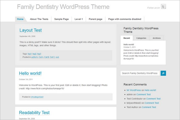 Family Dentistry is a free WordPress Theme
