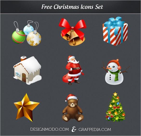A Beautiful Free Christmas Icons Set