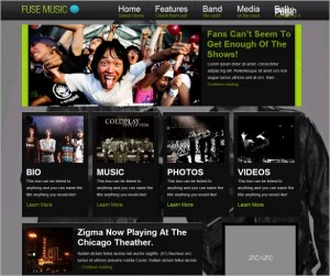 Fuse Music is a theme targeting Musicians