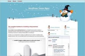 Hello Snowman is a free WordPress Theme