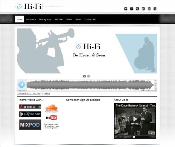 Hi-Fi is a beautiful Music WordPress Theme