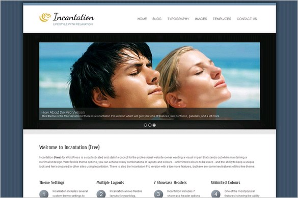 Incantation is a free WordPress Theme