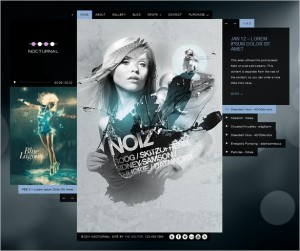 Nocturnal is an audio and music WordPress Theme