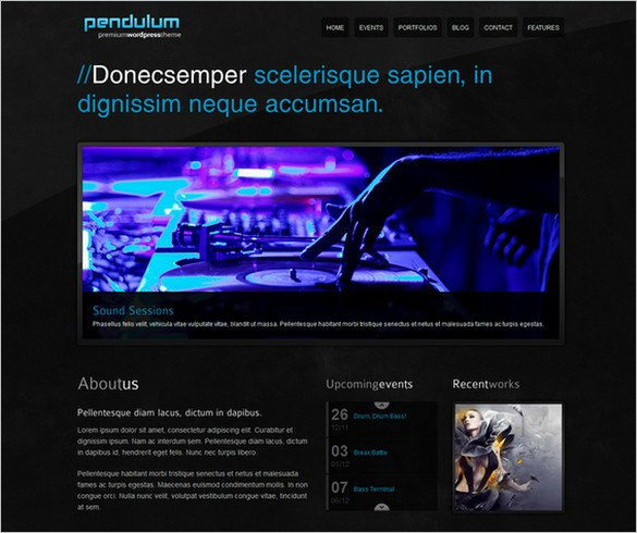 Pendulum is a Music WordPress Theme