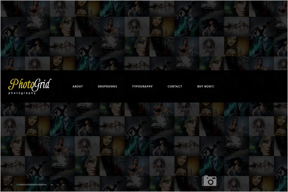 PhotoGrid is a one Page WordPress Theme
