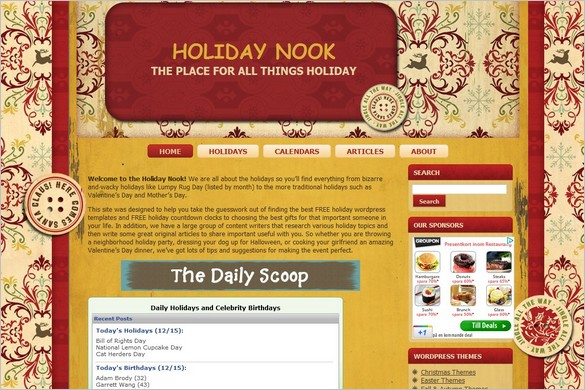 Red & Gold is a free WordPress Theme
