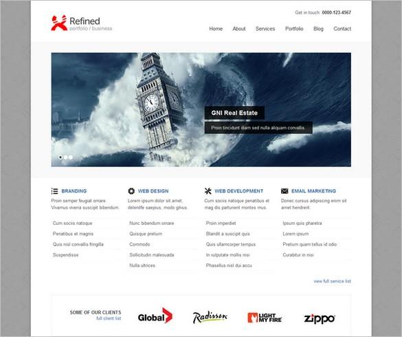 Refined WP - A Business WordPress Theme