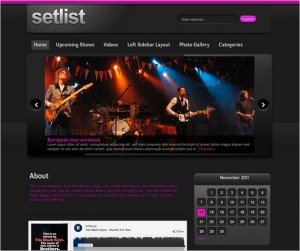 Setlist is a WordPress theme designed for Music bands