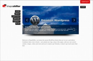 ShapeShifter is a one Page WordPress Theme