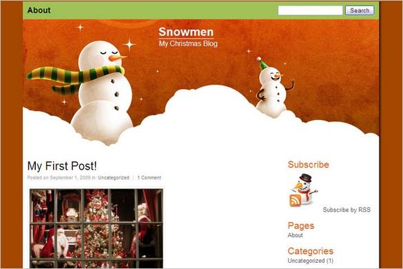 Snowmen is a free WordPress Theme