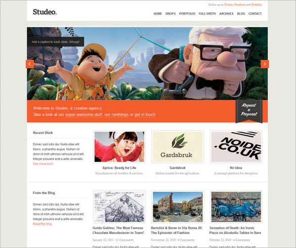 Studeo - A Creative Agency WordPress Theme