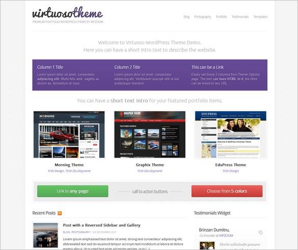 Virtuoso - A WordPress Theme by WPZOOM
