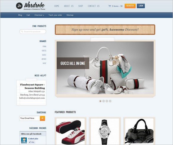Wardrobe is a e-commerce WordPress theme for fashion products