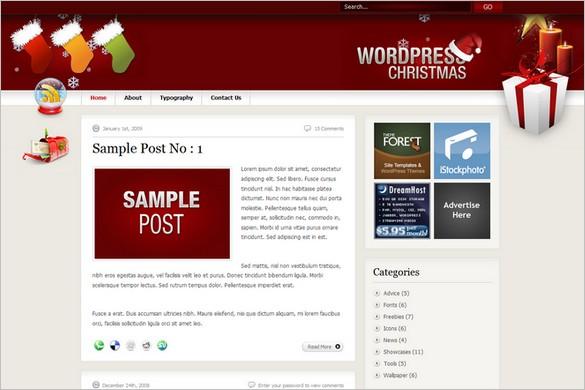 WordPress Christmas is a free theme