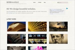 Workaholic is a free WordPress Theme