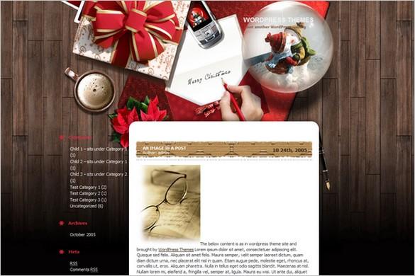 xmas desktop is a free wordpress theme - Christmas Themes Free