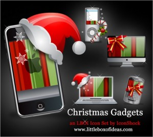 Christmas Gadgets is a set of free Icons