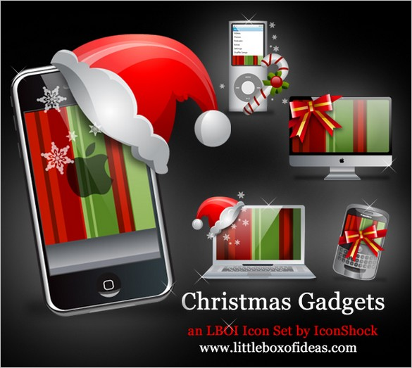 Christmas Gadgets is a set of free icons for Mac/Blackberry lovers