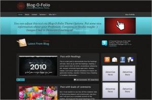 Blog-O-Folio is a free WordPress Theme