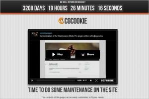 CGC Maintenance Mode Pro is a premium WordPress Plugin