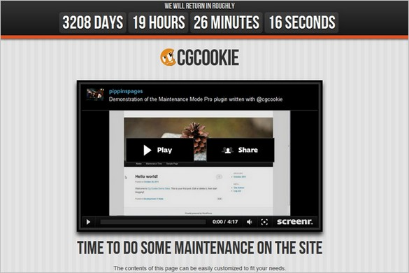 CGC Maintenance Mode Pro is a premium WordPress Plugin