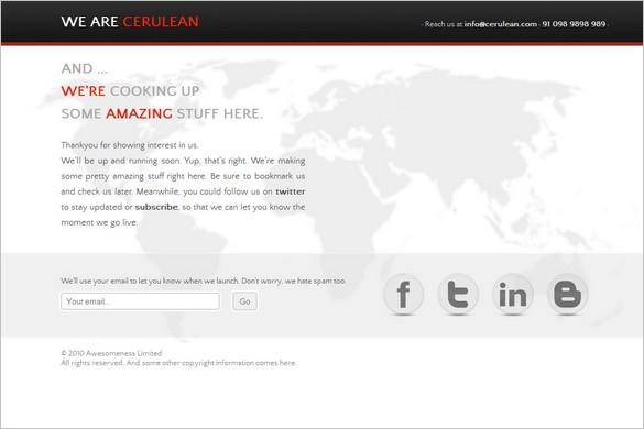 Cerulean is a premium Coming Soon WordPress Theme