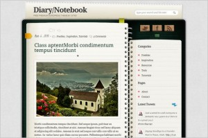 Diary/Notebook is a free WordPress Theme