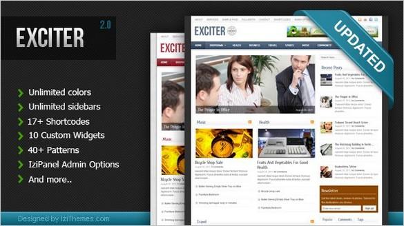 Exciter Magazine WordPress Theme