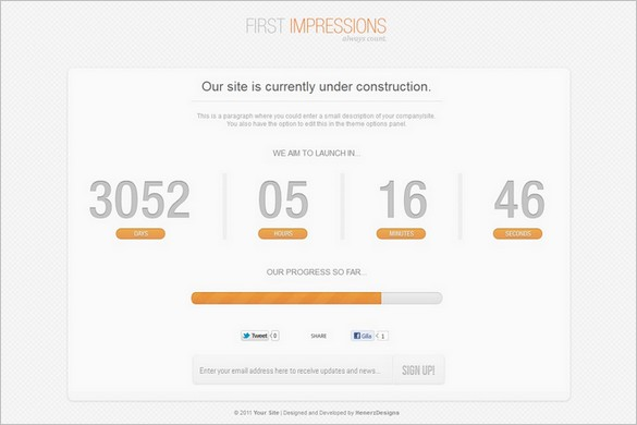 First Impressions is a Under Construction WordPress Theme