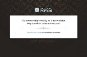 Holding Pattern is a free landing page WordPress Theme