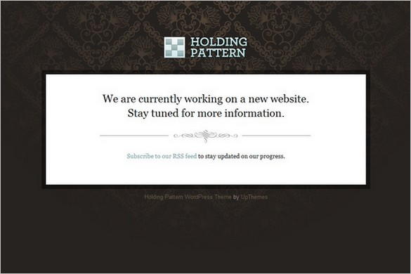 Holding Pattern is a free landing page WordPress Theme