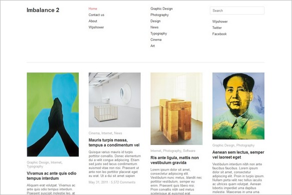 Imbalance 2 is a free WordPress Theme