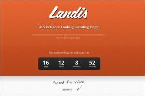 Landis is a free Coming Soon WordPress Theme