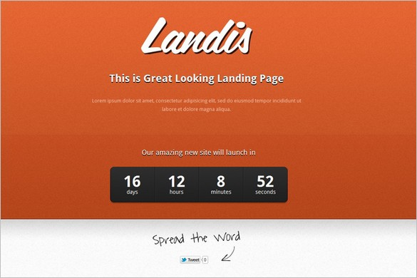 Landis is a free Coming Soon WordPress Theme