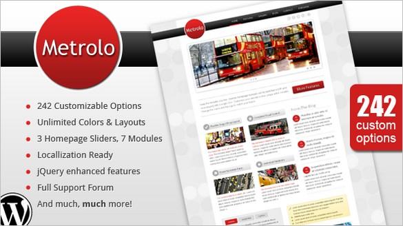 Metrolo – A Powerful and Flexible WordPress Theme