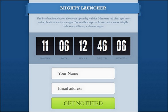 MightyLauncher is a premium Coming Soon WordPress Theme
